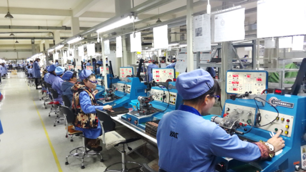 Employees in production in Shenyang
